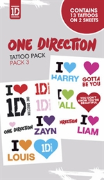 ONE DIRECTION tattoo pack 3