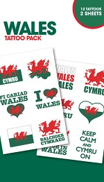 Wales supporters tattoo pack