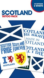 Scotland supporters tattoo pack