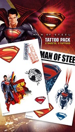 Superman 'Man of Steel' tattoo pack