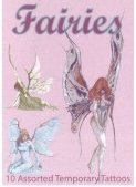 Fairies gift pack: 10 assorted tattoos