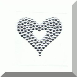 Heart in a Heart self adhesive body jewel