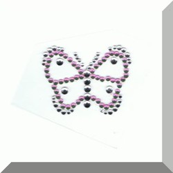 Colourful Butterfly diamante self adhesive body jewel