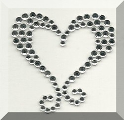 Diamante Fancy Heart self adhesive body jewel