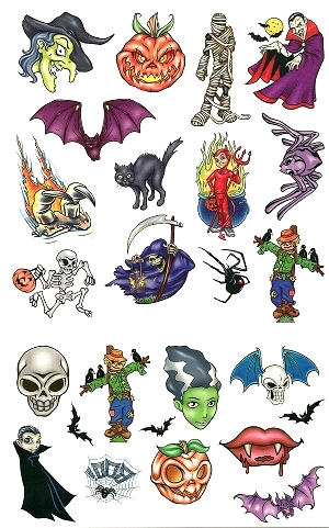 Trick or Treat Hallowe'en tattoo Gift Pack