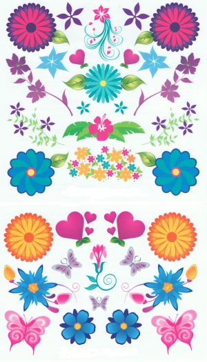 Summer Flower Scented Tattoos: gift pack