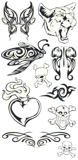 Glow in the Dark: Tribal tattoo sheet 3