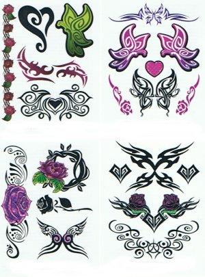 3D gift pack Tribal Butterfly Collection: 50 Tattoos