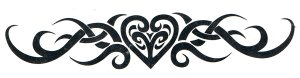 Tribal heart armband or lower back tattoo