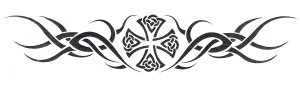 Tribal design armband or lower back tattoo