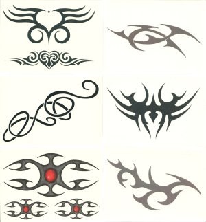 Celtic Designs temporary tattoos Gift Pack