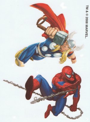 Marvel Superheroes Thor & Spiderman