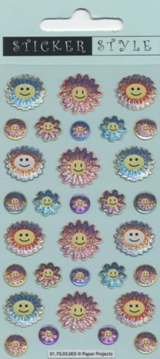 Craft Stickers: Smiley Flowers