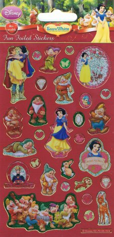 Snow White & the Seven Dwarfs Holofoil Stickers