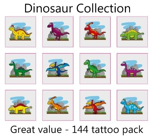 A Dinosaur Tattoos Collection mega pack of 144