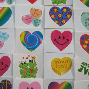 A Valentines Selection of Tattoos Pack of 60