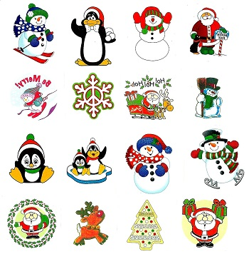 Christmas temporary tattoo fundraiser pack | Tattoos 4 Kids
