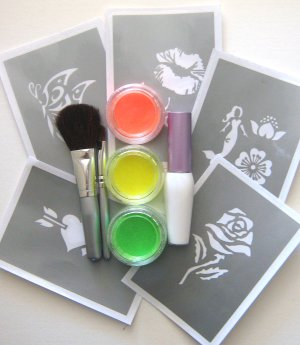 UV Glitter bodyart gift pack 1