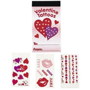 Valentine Booklet of Heart Tattoos