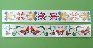 Glitter bracelet tattoos: 2 pack (butterfly)