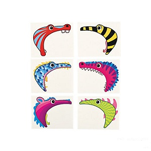 Monster Tattoos for your Hand: Pack of 6