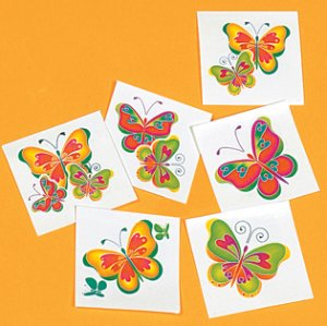 Butterfly removable tattoos