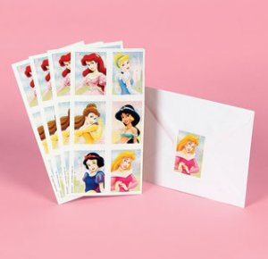 Disney Princess Stickers: 6 Stickers