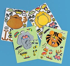 Make an Animal sticker sheets:  4 pack