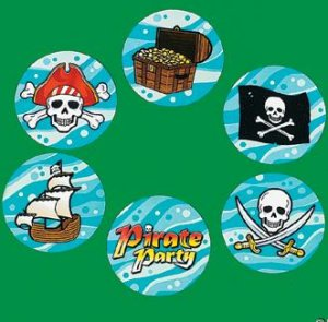Pirate stickers:  50 stickers