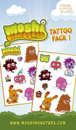 Moshi Monsters tattoo pack 1