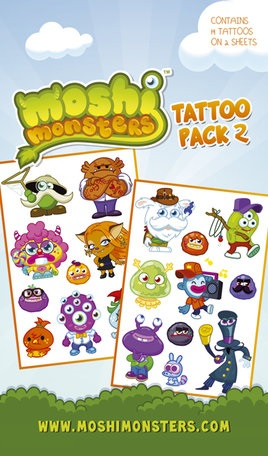 Moshi Monsters tattoo pack 2