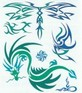 Dragonfly and Dragon tribal design tattoo sheet