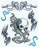 Tribal Skull tattoo sheet