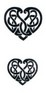 Tribal design heart tattoos