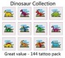 A Dinosaur Tattoos Collection - mega pack of 144