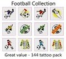 A Football Tattoos Collection - mega pack of 144