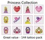A Princess Tattoos Collection - mega pack of 144