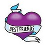 'BEST FRIENDS' temporary tattoos