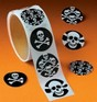 Skull and Crossbone Pirate kids stickers - 50 stickers
