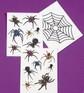 Spiders and Spider web - 3 tattoo sheets