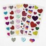 Glitter Heart Stickers - Bargain Pack of 6 sheets