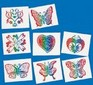 Glitter Rainbow kids tattoos - 8 pack