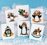 Glitter Penguin children's removable tattoos - 12 pack