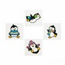 Cute Little Glitter Penguin Tattoos - Pack of 12