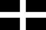 St. Piran's Flag temporary tattoo - The county flag of Cornwall
