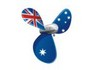 Australian Flag Propeller tattoo