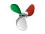 Italian Flag Propeller tattoo
