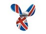 Union Jack Flag Propeller tattoo
