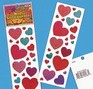 Glitter Heart stickers - 1 strip