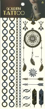 Metallic armbands and dream catcher